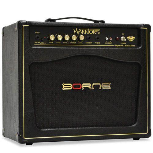 Cubo Amplificador para Guitarra 10 Pol 50wrms Warrior50 Borne