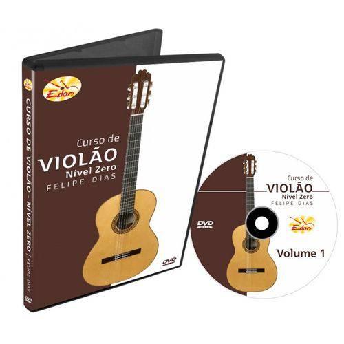 DVD Curso de Violão Nível Zero Volume 1 CVNZ1 Edon