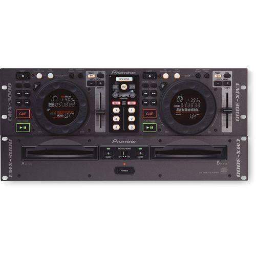 Deck de CDs Duplo Pioneer DJ CMX-3000