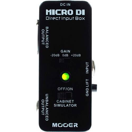 Direct Box Guitarra Baixo Mooer Micro Di Direct Box Mdi1