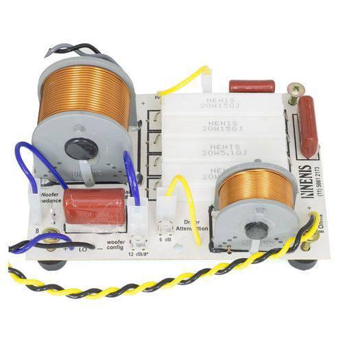 Divisor de Frequência Nenis DF652TI 2 Vias para Woofer + Driver Ti - Até 650 Watts RMS