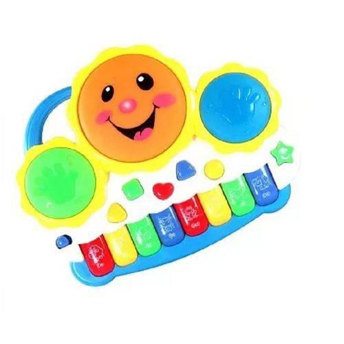 Drum Keyboard Infantil Bateria e Teclado Eletrônico Musical