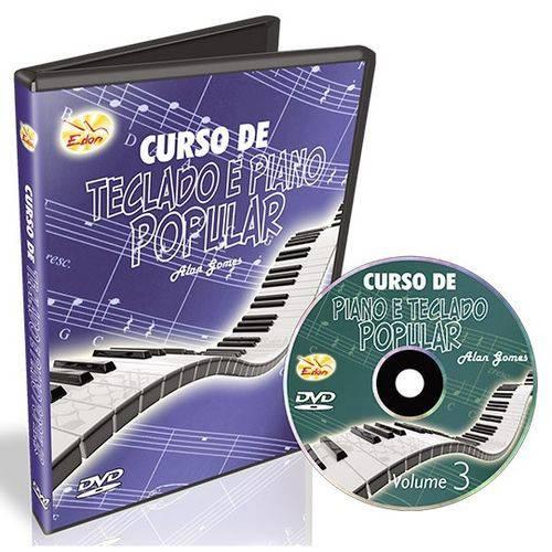 DVD Curso de Teclado e Piano Popular Volume 3 CTPP3 Edon