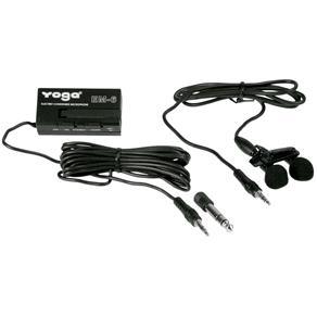 EM 6 - Microfone C/ Fio Lapela Duplo EM6 Yoga