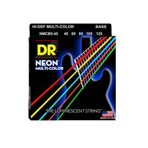 Enc Baixo Dr Neon Multicolor 5 Cordas