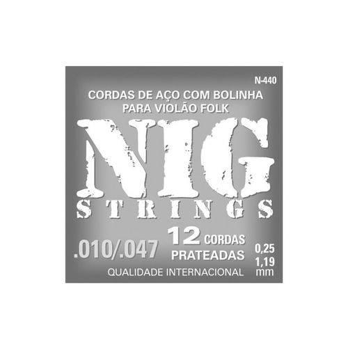 Enc Violao Aco Nig N440 Folk 12c