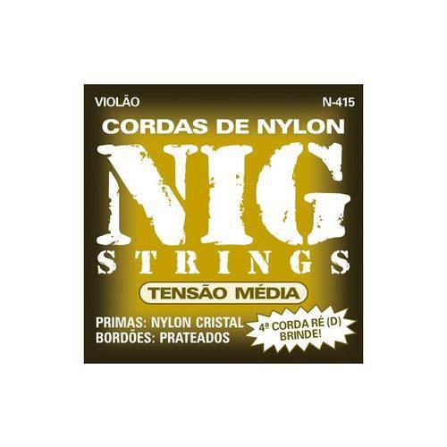 Enc Violao Ny Nig N 415 Cristal/ Prata T.Media