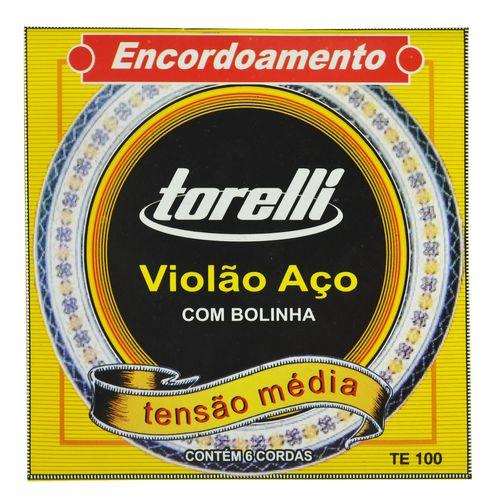 Encordoamento Aço Inox Violão com Bolinha - Torelli