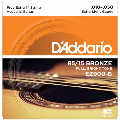 Encordoamento Aço para Violão Ez900b D'Addario 010/050 Bronze