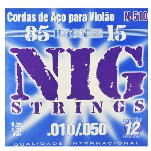 Encordoamento Aço Violão 12 Cordas R .010/.050 - Rouxinol