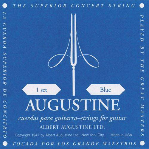 Encordoamento Augustine Violao Nylon Classic Blue Alto