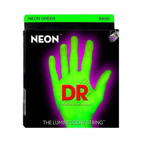 Encordoamento Baixo Dr Ngb5 045 Neon Green 5 Cordas