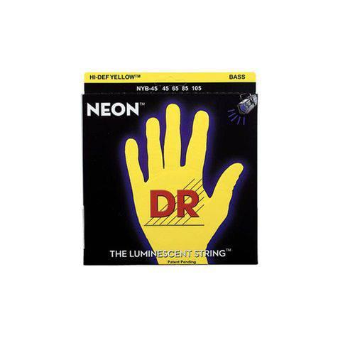 Encordoamento Baixo Dr Nyb-45 045 Neon Yellon 4 Cordas