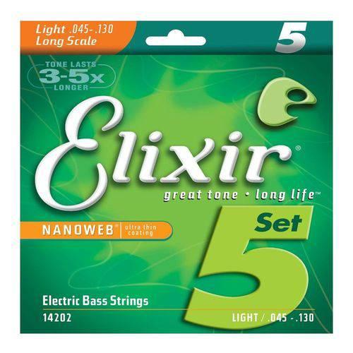 Encordoamento Baixo Light NANOWEB .045 Elixir