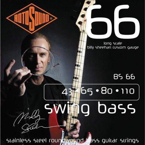 Encordoamento Baixo Rotosound Bs66 (Swing Boss-Signature Billy Sheeron) 4 Cordas 043-110