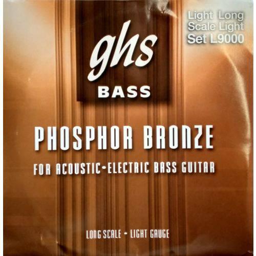 Encordoamento Baixolão 4 Cordas Ghs Phosphoro e Bronze