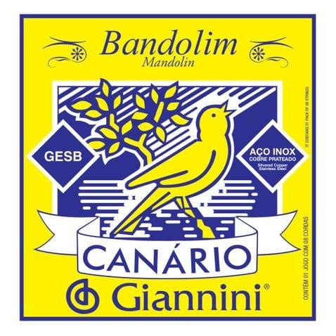 Encordoamento Bandolim Giannini Gesb C/chenilha Canário
