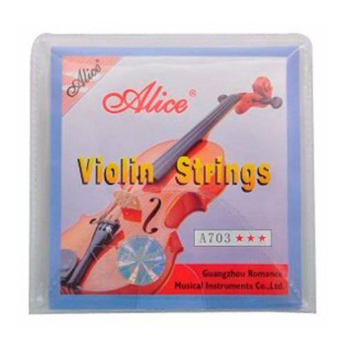Encordoamento Completo para Violino Alice - Schieffer A703 #SCHVS-001