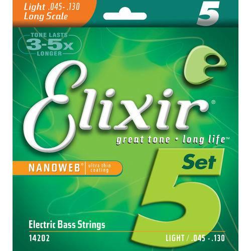 Encordoamento Contra Baixo 5 Cordas Elixir 045 IZ3221 Light