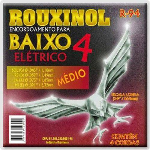 Encordoamento Contra Baixo R-94 4 Cordas Rouxinol