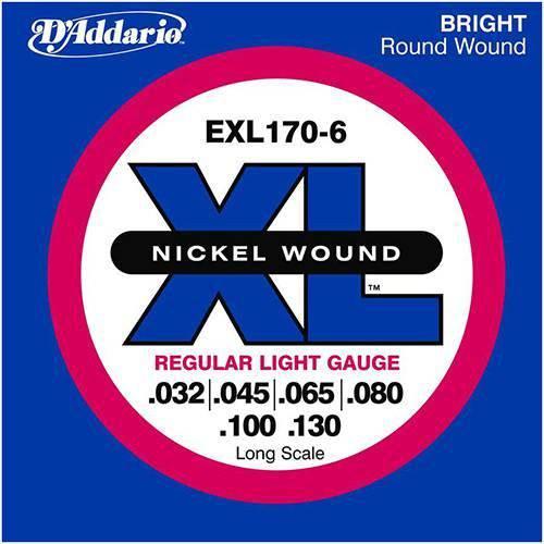 Encordoamento Contrabaixo D' Addario 6 Cordas 0.32 EXL 170-6