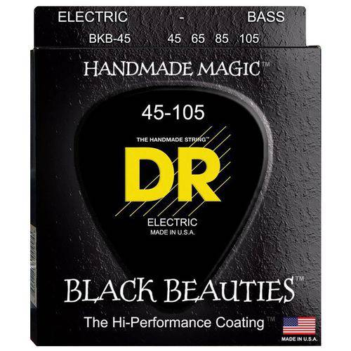 Encordoamento Contrabaixo DR Black Beauties 045 4 Cordas Preto