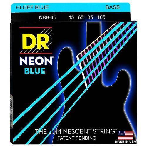 Encordoamento Contrabaixo Dr Neon Blue 045 4 Cordas Azul