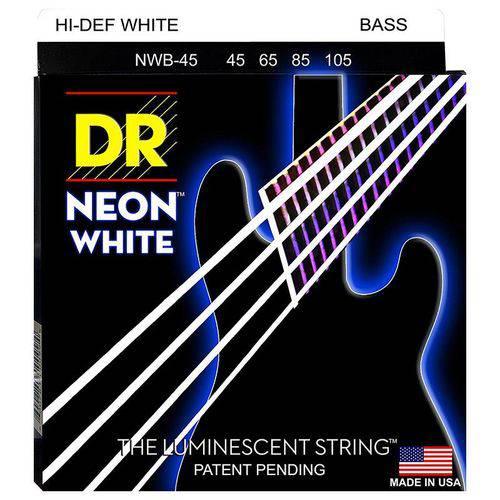 Encordoamento Contrabaixo DR Neon White 045 4 Cordas Branco