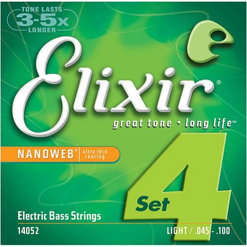 Encordoamento Contrabaixo Elixir Nanoweb 0,45 Light