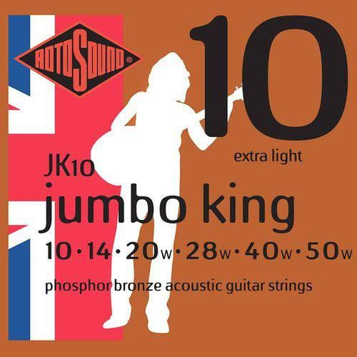 Encordoamento Corda Violão 010 Jumbo Rotosound King Jk10
