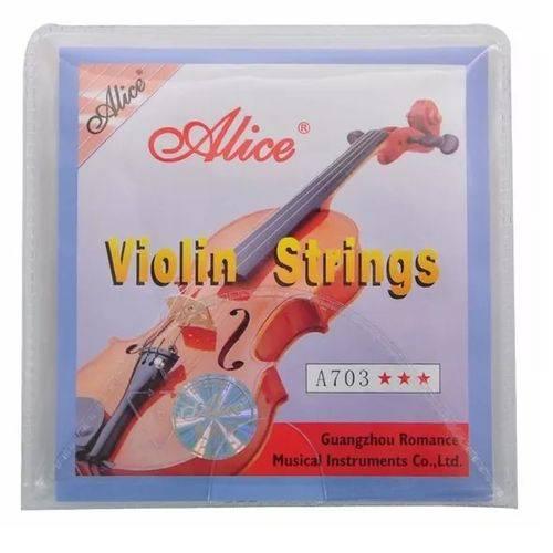 Encordoamento Cordas para Violino Alice