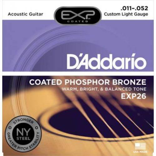 Encordoamento D'Addario Violão Aço EXP26 Phosphor Bronze - 011
