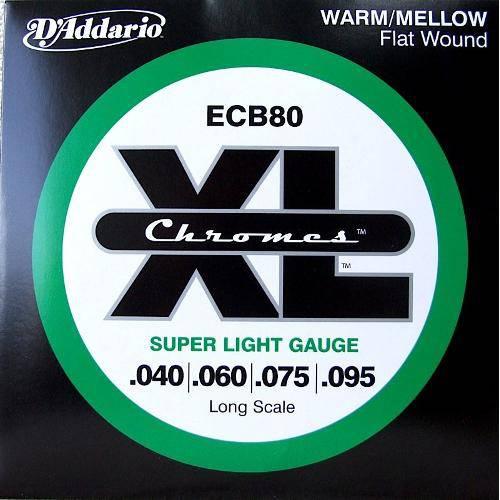 Encordoamento Daddario Contra Baixo 0.40 4c Ecb80sl
