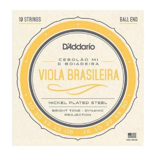 Encordoamento de Aço para Viola Brasileira Ej82c - Cebolão Mi / Boiadeira