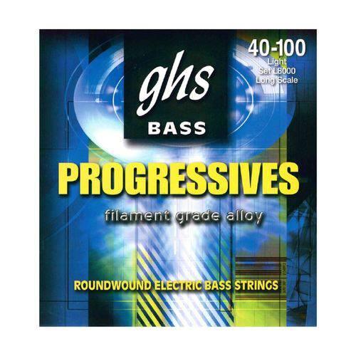 Encordoamento de Baixo 4c Ghs L8000 040-100 - Ghs