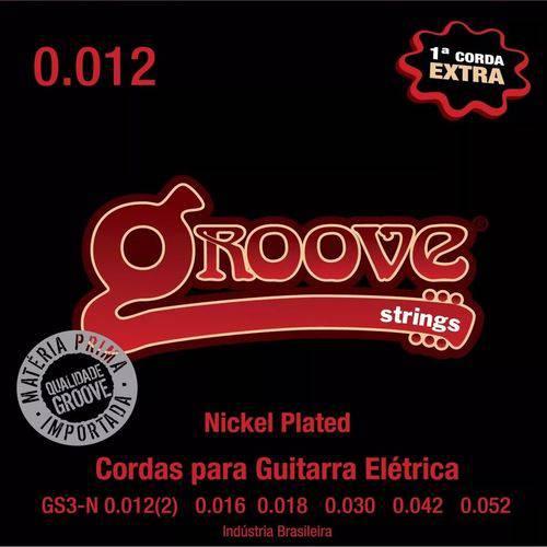 Encordoamento de Guitarra Groove GS3/N 0.12