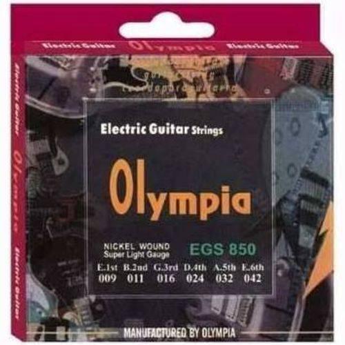 Encordoamento de Guitarra Olympia Strings 0.10