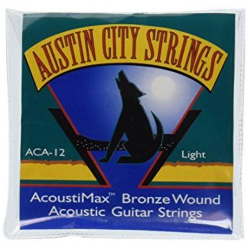 Encordoamento de Violão Aço Austin City Strings Light Aca12 0.12