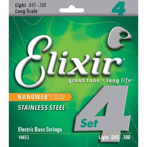 Encordoamento Elixir Aço Inox 045-100 Baixo 4 Cordas