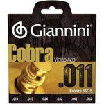 Encordoamento Geeflk Série Cobra em Aço para Violão .011 - Giannini
