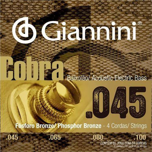 Encordoamento Giannini Baixolão 4 Cordas 045 GEEBASF Fósforo Bronze