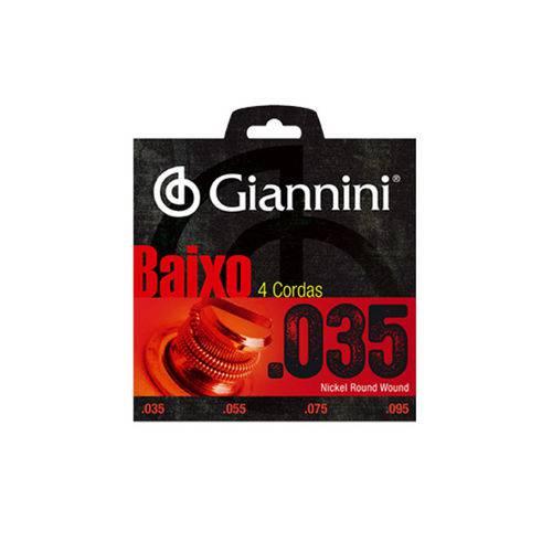 Encordoamento Giannini GEEBRLX 035 para Contrabaixo 4 Cordas