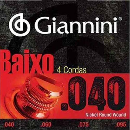 Encordoamento Baixo 4c Giannini Geebrl 040-095