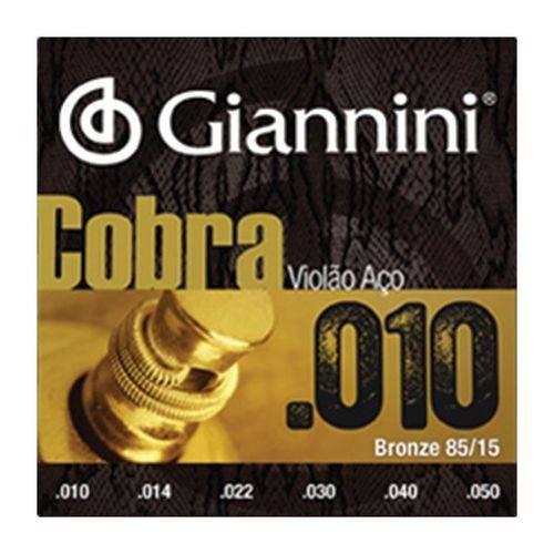 Encordoamento Giannini para Violão Aço Geefle Cobra 010