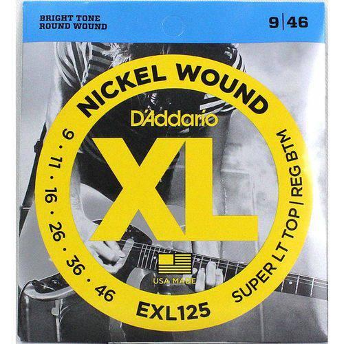 Encordoamento Guitarra Daddario Exl125 09-046 Sup Light
