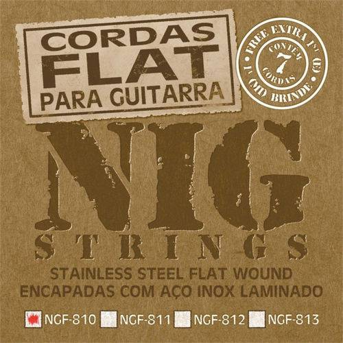 Encordoamento Guitarra Nig 010 Ngf810 Flat Wound