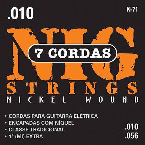 Encordoamento Guitarra Nig N71 010/056 7cordas