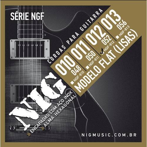 Encordoamento Guitarra Nig NGF812 012 Flat