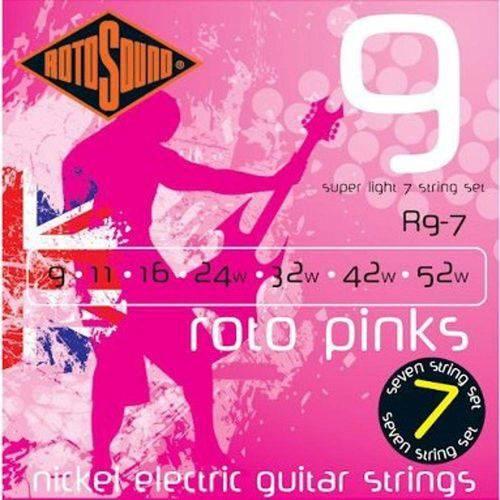 Encordoamento de Guitarra 7 Cordas Rotosound Roto Pinks R9/7