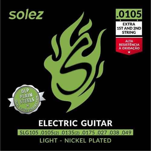 Encordoamento Guitarra Solez 0.0105 Slg105 com 2 Cordas Extras